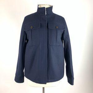J Crew Oversized Wool Melton Blend Sherpa Jacket